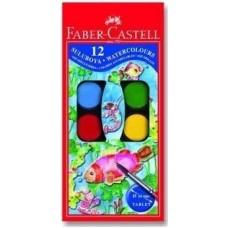 Faber Castell Büyük Boy 12 Renk Sulu Boya Toptan Satış