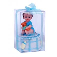 Ayıcıkla Oturan Bebek Biblosu Toptan Satış Kolide 48 Adet