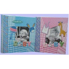 23 x 26 - 12 Yaprak Yapışkanlı Bebek Fotoğraf Albümü