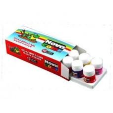 Nova Color 10 Renk Şişe Guaj Boya, Şişe Guaj Boya Kutuda 12 Adet Toptan Satış