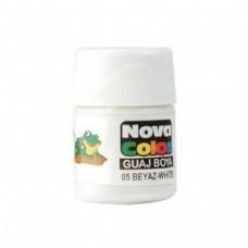 Nova Color Guaj Boya, Nova Color Beyaz Şişe Guaj Boya Kutuda 12 Adet Toptan Satış