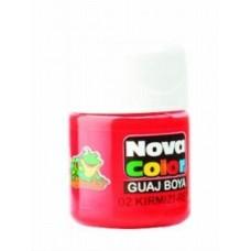 Nova Color Guaj Boya, Nova Color Kırmızı Şişe Guaj Boya Kutuda 12 Adet Toptan Satış