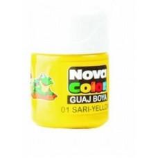 Nova Color Guaj Boya, Nova Color Sarı Şişe Guaj Boya Kutuda 12 Adet Toptan Satış